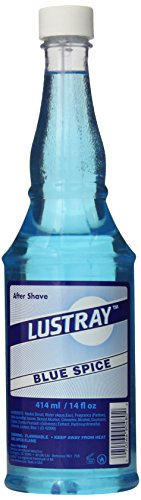 Lustray Blue Spice After Shave Lotion, 14 fl oz
