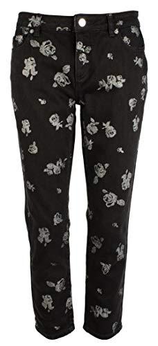 - Michael MIchael Kors Women's Izzy Metallic-Printed Ankle Skinny Jeans, Regular & Petite, Black (4)