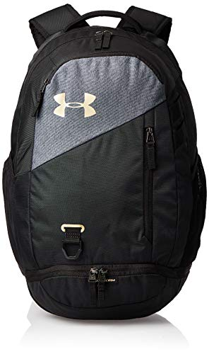 Under Armour Hustle 4.0 Backpack, Black (003)/Metallic Gold, One Size Fits All