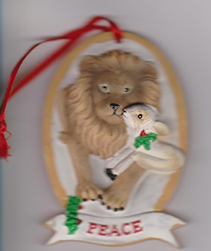 Lion and Lamb Peace Ornament 3.25