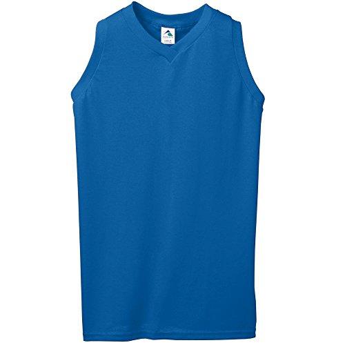 Augusta Sportswear WOMEN'S SLEEVELESS V-NECK POLY/COTTON JERSEY L Royal