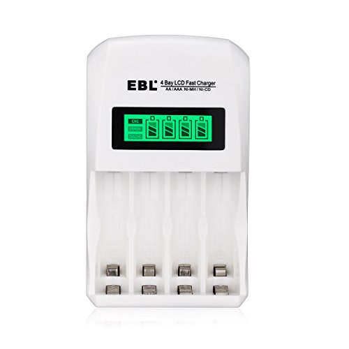 EBL LCD Smart Individual AA AAA Rechargeable Battery Charger for Ni-MH Ni-CD (Best Aa Aaa Battery Charger)