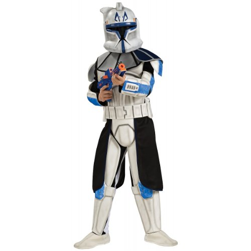Star Wars Rex Costume (Deluxe Clone Trooper Captain Rex Child Costume - Large)
