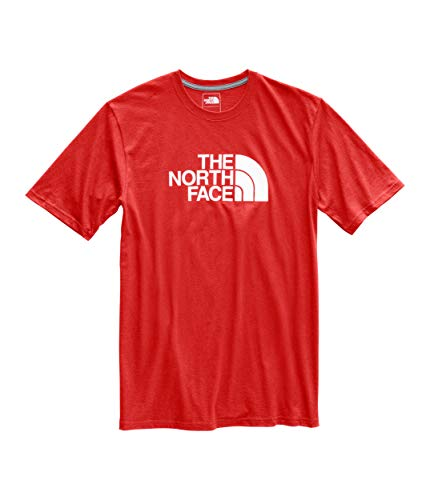 The North Face Men's Short Sleeve 1/2 Dome Tee Fiery Red/TNF White Medium