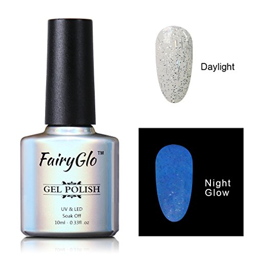 FairyGlo Long Lasting Night Glow Gel Nail Polish Soak Off UV LED Dramatic Manicure Decor Kit Nail Art For Party Carnival Dressing 10ml 6724