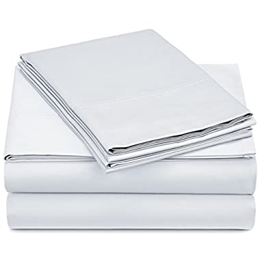Pinzon 500-Thread-Count Pima Cotton Sheet Set - Queen, White