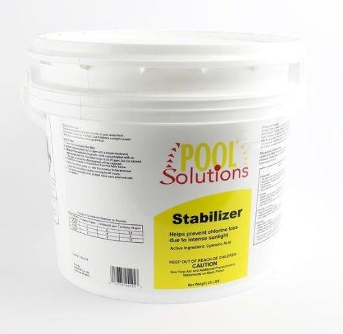 BLOSSOMZ Pool Solutions Swimming Pool 25Lb Chlorine Stabilizer Cyanuric Acid | P17025DE ()
