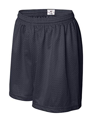 Badger 7216 Ladies Mesh & Tricot 5 in. Shorts - Navy, Small - Ladies Navy Mesh Shorts