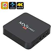 MXQ Pro 4K Ultra HD TV Box - The New KODI 17.4, Android 6.0, 64Bit Amlogic S905 Quad Core, H.265 4K Decoding