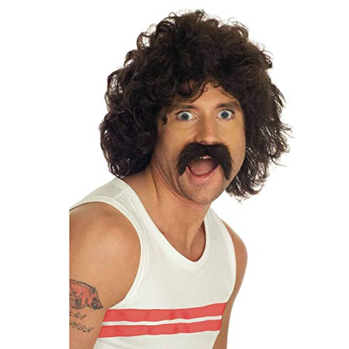 fun shack Men's Curly Brown Wig &