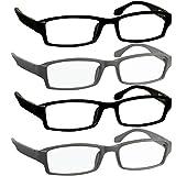 Reading Glasses 3.00 2 Flat Black 2 Flat Gray F501