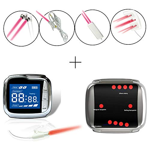 New Pain Relief Device LLLT Cold Laser Therapy Watch Device Unit for Tinnitus Otitis Rhinitis Pharyngitis Pain Relief Blood Circulation 2019
