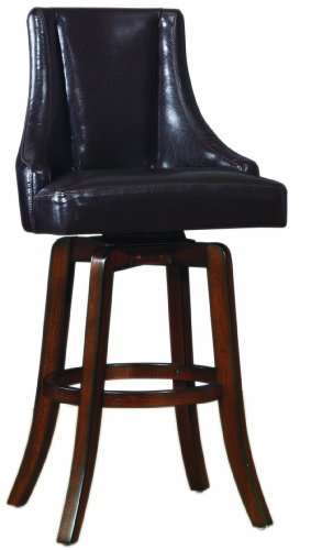 Homelegance 2479-29BRS Annabelle Brown Synthetic Leather Swivel 29-Inch Pub Bar Stool, Set of 2 - Homelegance Modern Bar Stool