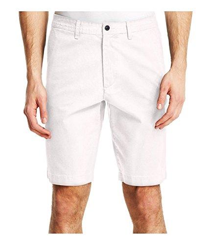 Kenneth Cole Mens Mini-Herringbone Casual Walking Shorts White ()