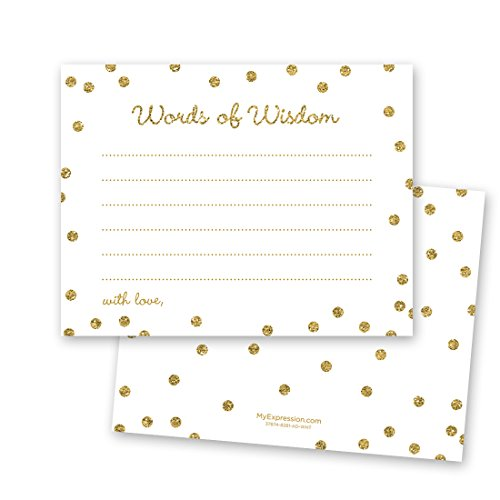 Price comparison product image 48 Cnt Gold Glitter Graphic Dots Advice Cards - White