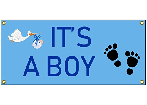 (It's a Boy Congratulations Banner Welcome Home Sign 36