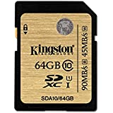 Kingston Scheda SD Professionale SDA10/64GB UHS-I SDHC/SDXC di Classe 10 - 64GB
