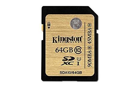 Kingston Digital 64GB SDXC Class 10 UHS-I Flash Card (SDA10/64GB)