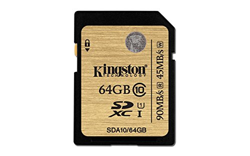 Kingston Digital 64GB SDXC Class 10 UHS-I Ultimate Flash Card (SDA10/64GB) Kingston - Digital Imaging Flash Memory Devices