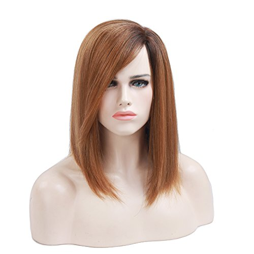 Asifen Long Straight Simulation Scalp Side Parting Wigs for Women(Color 4/144) (70s Womens Hairstyles)
