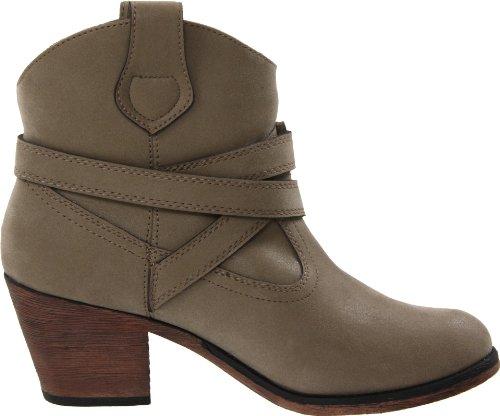 Rocket Dog Women's Sayla Vintage Worn PU Western Boot, Mushroom, 9 B(M) US