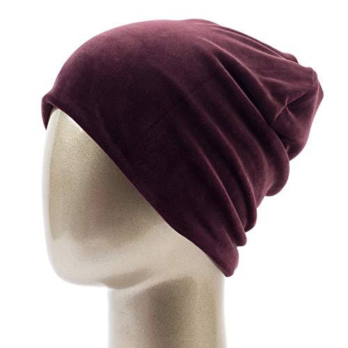 Feisette Women's Velour Beanie Hat Casual Polyester for Women Winter Velvet Plain Bonnet -