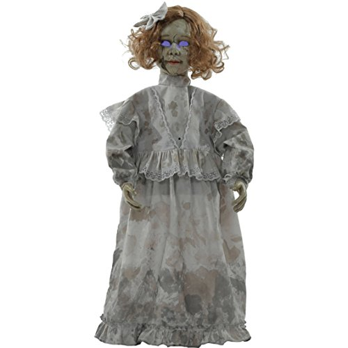 Homemade Halloween Gravestone (Hollowed-Out Eyes Halloween Decoration Cracked Victorian Talking Doll)