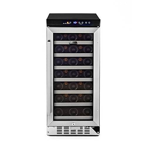 Whynter BWR-33SA 33 Bottle Built-In Wine Refrigerator, Stainless Steel For Sale