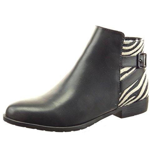 Sopily - damen Mode Schuhe Stiefeletten Reitstiefel - Kavalier Schlangenhaut Schleife - Schwarz