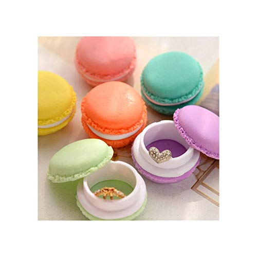 (SunnyWarm Lovely 6 Pcs Mini Eahone Sd Card Macarons Bag Storage Box Case Carrying Pouch 811 Storage,As Show)