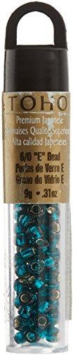 - Darice Toho Japanese Glass Seed Beads, Silver Lined Teal