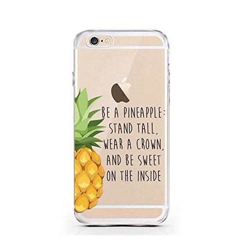 iPhone 7 Caso por licaso® para el patrón de Apple iPhone 7 Gato Negro Gatito Dulce TPU de silicona ultra-delgada proteger su iPhone 7 es elegante y cubierta regalo de coches Ananas Prinzessin