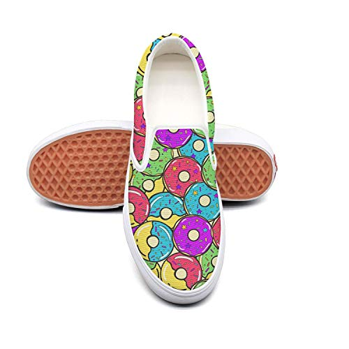 4ea6e38f0a4b44 Lalige Lalige Lalige Colorful Pink Donut Birthday Party Women Cute Canvas  Slip-ONS Skate Shoes B07GLLLD9B Parent 2d4993