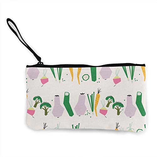 Oomato Canvas Coin Purse Fruits and Veggies Cosmetic Makeup Storage Wallet Clutch Purse Pencil Bag