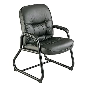 Safco Products 3473BL Serenity Guest Chair, Black