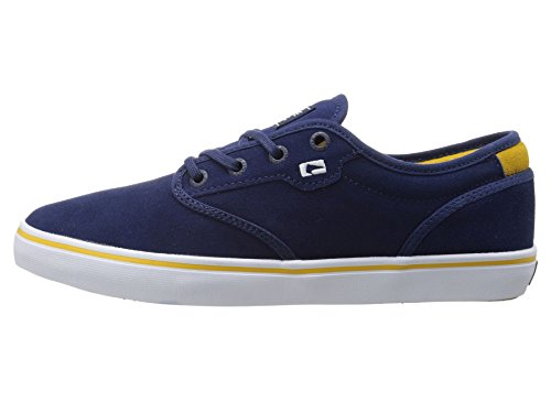 Globe Motley Blu Giallo Bianco Suede Uomo Skate Sneaker Scarpe Stivali