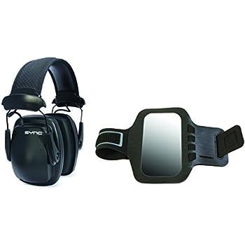 Howard Leight 1030110RAB Sync Stereo Earmuff with Armband, Black