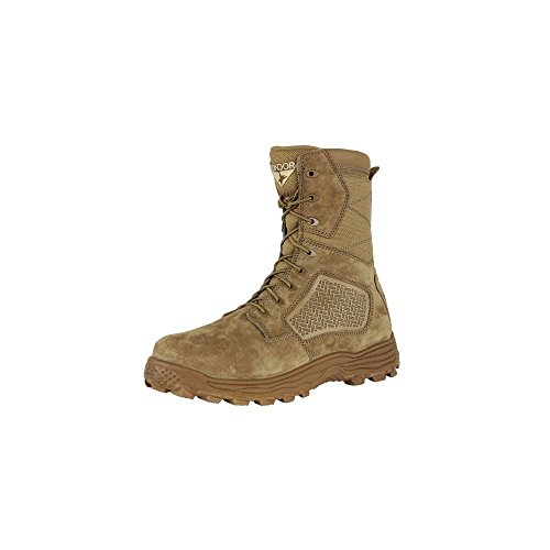 Condor Men's Murphy Zip 9'' Tactical Waterproof Boots, Brown Leather, Nylon Fabric, 12 E
