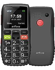 artfone GSM Mobiele Telefoon voor Senioren Zonder Contract   Dual SIM Mobiele Telefoon met SOS Noodoproep Knop   GSM voor Senioren met Grote Toetsen, Lader en Camera   Luid Geluid   1400 mAh Batterij Lange Standby-tijd