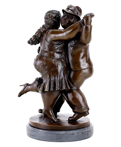 Kunst & Ambiente - Contemporary Bronze Figurine - Dancing Couple II - Signed Statue - Fernando Botero Sculpture - Height: 40.0 cm - Weight: 9.8 kg - Impressionism - Decoration ()