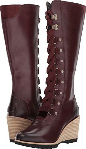 Sorel Womens After Hours Tall Wedge Boots Redwood