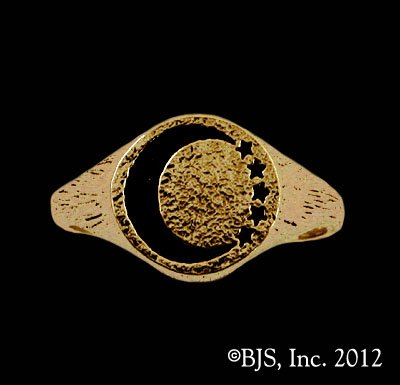 14k. Gold Lanfear's ™ Signet Ring Officially Licensed Robert Jordan Wheel of Time ® Jewelry by Raven Blackwood