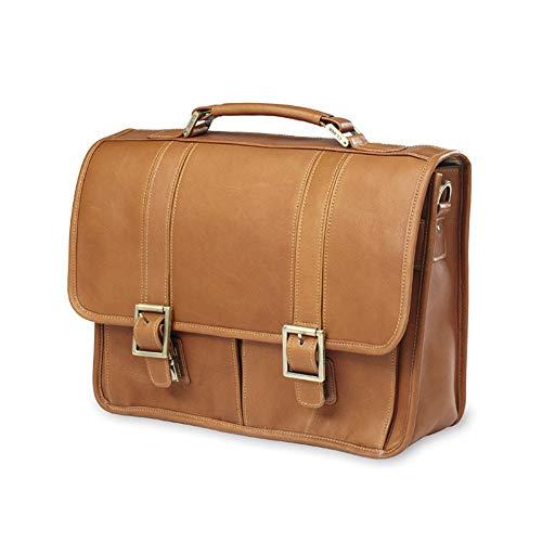 "Clava Leather Vachetta 15"" Laptop Briefcase in Tan"