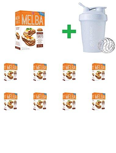(Old London Whole Grain Melba Toast, 5 oz (9 PCS) + Assorted Sundesa, BlenderBottle, Classic With Loop, 20 oz)