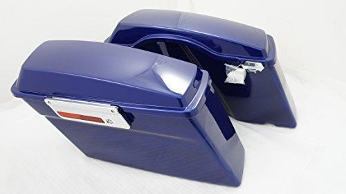 Cobalt Blue Complete Stock Hard Saddlebags for Harley (Cobalt Stock)