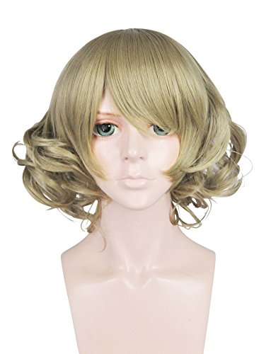 Price comparison product image Cfalaicos Short Wave Cosplay Wig with Free Wig Cap