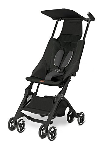 Umbrella Compact Stroller - Pockit Lightweight Stroller, Monument Black, 9.5 Pounds