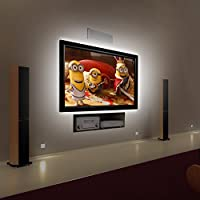 """Bias Lighting for HDTV USB Powered TV Backlighting Home Theater Accent lighting, Kohree 35.4"""" Led Strip Light, Bright White (Reduce eye fatigue and increase image clarity)"""