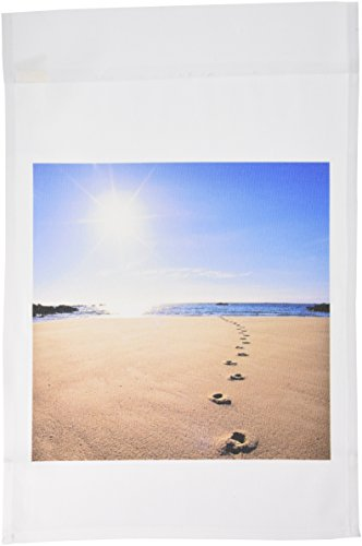 3dRose fl_72204_1 Feet Prints in Sand, Abel Tasman National Park-AU01 DWA2064-David Wall Garden Flag, 12 by 18-Inch
