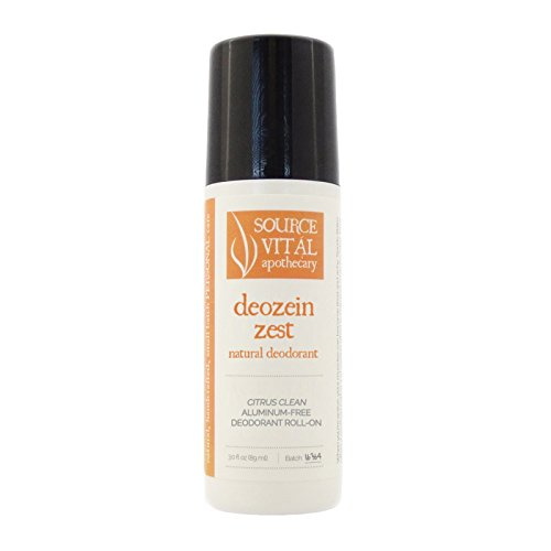 Deozein Zest Natural Roll-On Deodorant (3 fl. oz.) by Source Vitál Apothecary (Antibacterial Lime Zest)
